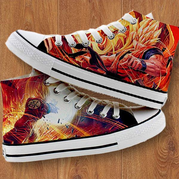 8769b70a8493 Custom Dragon Ball Z Shoes - Custom Hand Painted Converse Shoes - Gift Idea