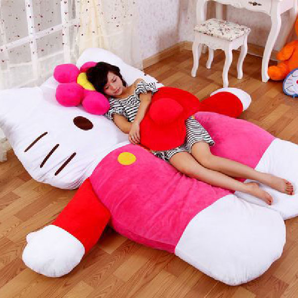 Giant Hello Kitty Bed Hello Kitty Plush Bed Geeky Gift