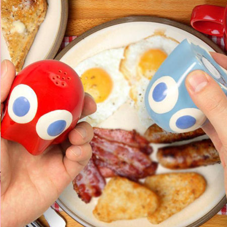 Pac Man Ghost Salt And Pepper Shakers