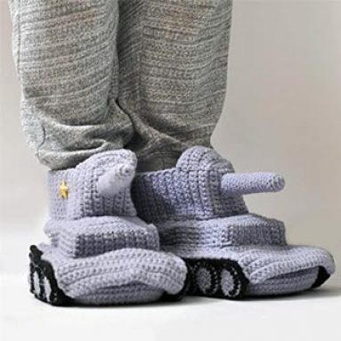 Panzer Tank Slippers Geeky Gift Ideas